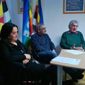 DA SINISTRA: VALERIA CIONI (MOGLIE DI LUCIANO), MARCO SOLIMANO E ALFIO BALDI