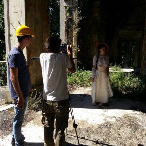 Il regista Luca Dal Canto con Matilde Vittoria Laricchia e Dario Albano